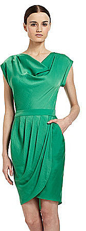 BCBGMAXAZRIA Tulip Pleat Dress