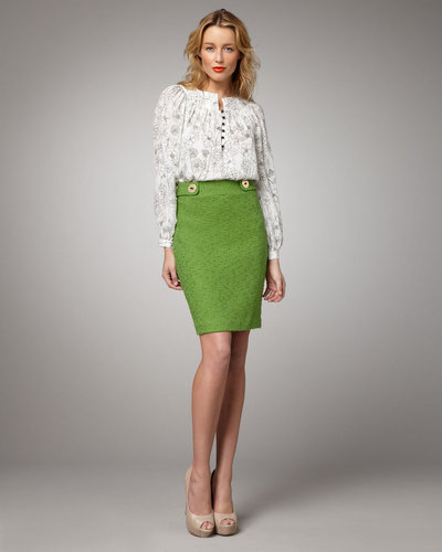 Milly Tweed Pencil Skirt