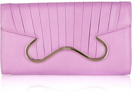 Christian Louboutin Tower pleated-flap leather clutch