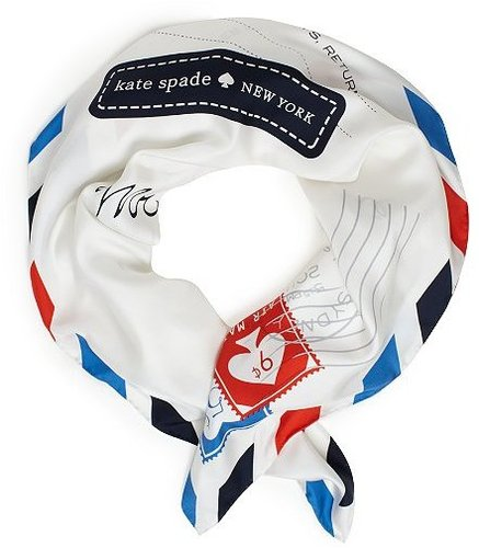 All aboard silk scarf