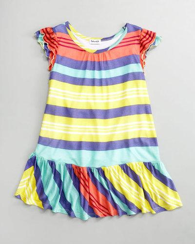 Splendid Littles Beach Towel Stripe Dress, Sizes 2T-4T