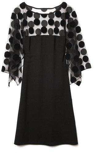 Vionnet Sheer Dot Dress