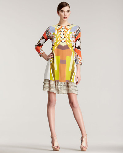 Etro Geometric-Print Silk Dress