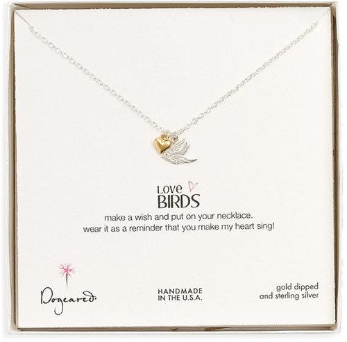Dogeared 'Love Birds' Pendant Necklace