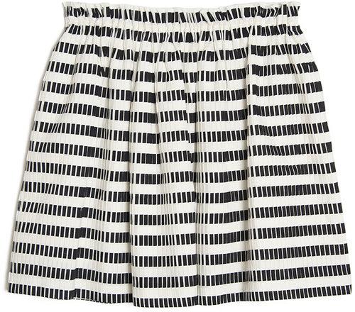 MSGM Stripe Pleat Skirt