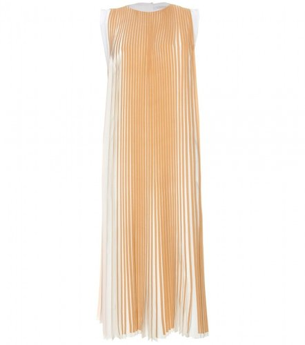 Chloé TWO-TONED PLEATED DRESS