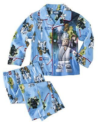 Star Wars Lego Infant Toddler Boys Long-Sleeve Pajama Coat Set - Blue