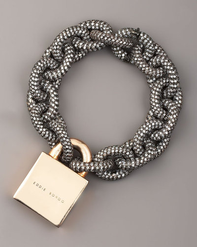 Eddie Borgo Pave Padlock Bracelet