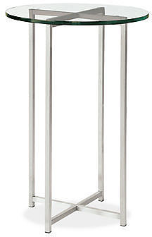 Classic End Tables in Stainless Steel