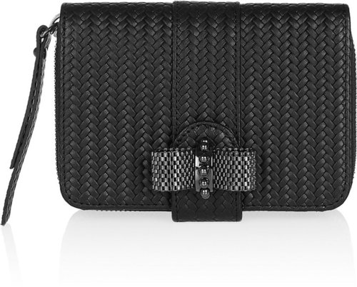 Christian Louboutin Square braided leather wallet