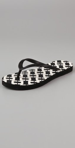 Diane Von Furstenberg Tairona Chain Link Flip Flops
