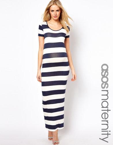 ASOS Maternity Exclusive Maxi Dress In Stripe