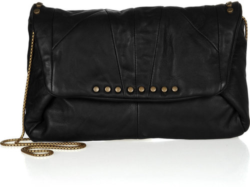Lanvin Studded leather clutch