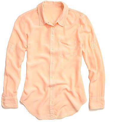Solid silk boyshirt