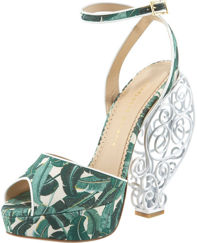 Charlotte Olympia Wire-Heel Platform Sandal