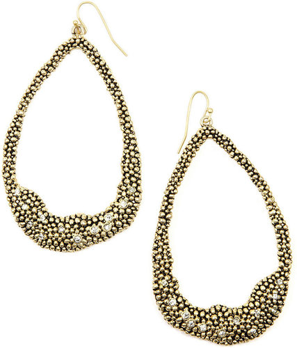 RACHEL Rachel Roy Earrings, Gold-Tone Crystal Hoop Earrings