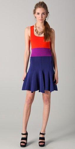 Sonia By Sonia Rykiel Colorblock Tank Dress