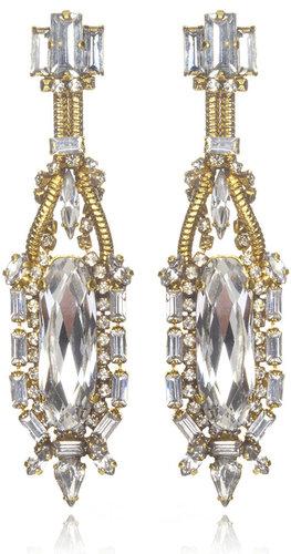 Erickson Beamon Bette Davis Eyes Crystal Earrings
