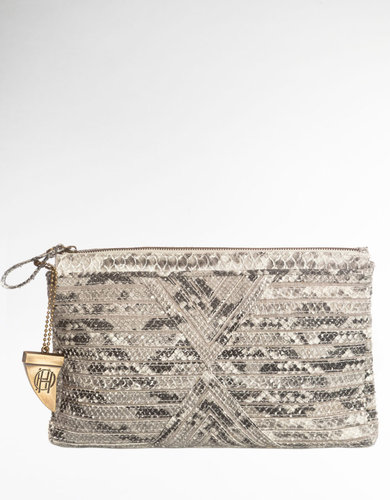HOUSE OF HARLOW 1960 Riley Leather Clutch