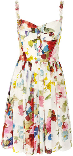 Dolce & Gabbana Floral-print silk crepe de chine dress