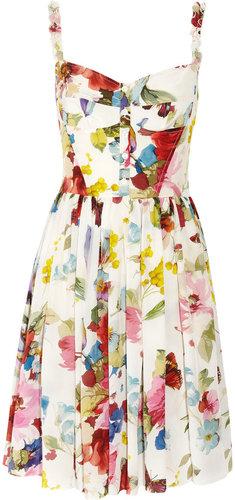 Dolce & Gabbana Floral-print silk crepe de chine dress