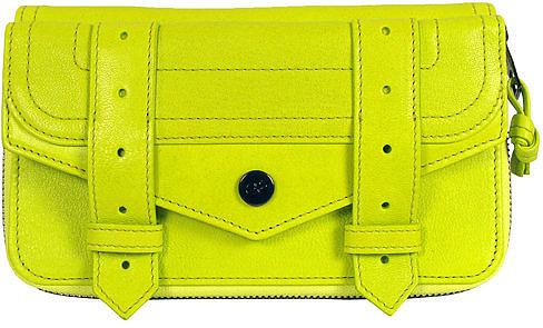 Proenza Schouler Ps1 Large Zip Wallet In Citron