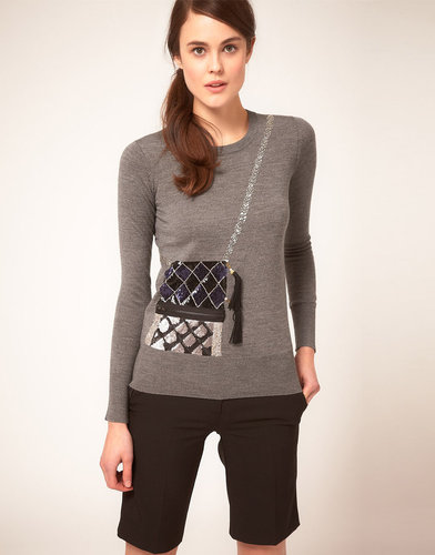 Markus Lupfer Sequin Bag Knit Sweater