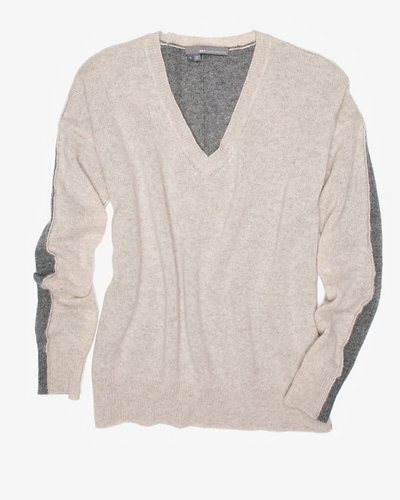 360 Sweater Exclusive Two Tone V Neck