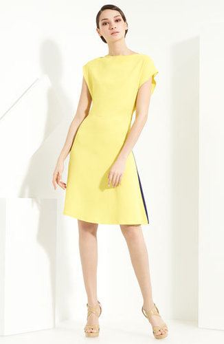 Vionnet Contrast Back Crepe Dress