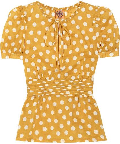 Tory Burch Ruth polka-dot cotton top