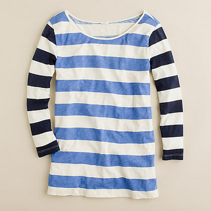 Contrast stripe tee