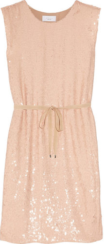 Adam Sequined silk-chiffon dress