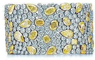 Cobblestone yellow diamond bracelet