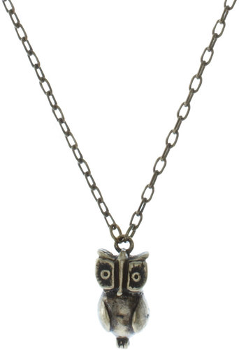 French Connection Owl Long Pendant