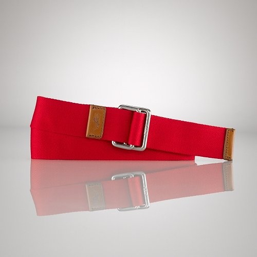 Polo Ralph Lauren Solid Webbed D-Ring Belt