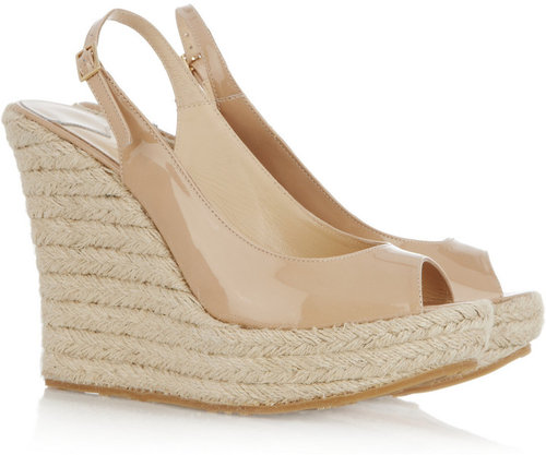 Jimmy Choo Polar patent-leather espadrilles