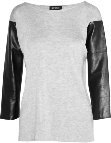 Holy Tee James jersey and leather top