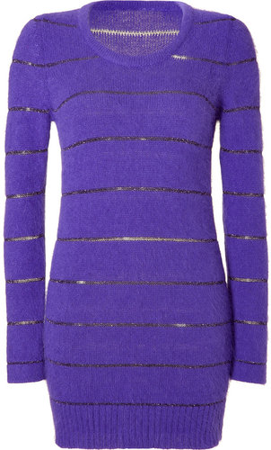 See by Chloé Lilac Lurex Stripe Long Knit
