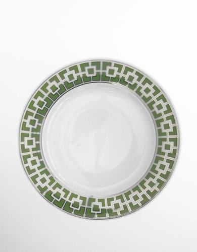 JONATHAN ADLER Green Nixon Dinner Plate