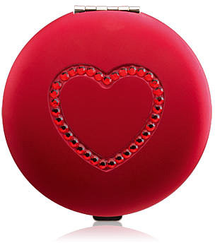 Jeweled Heart Compact Mirror