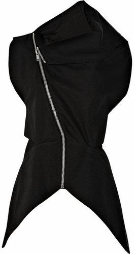 Rick Owens Sleeveless cotton-blend jacket