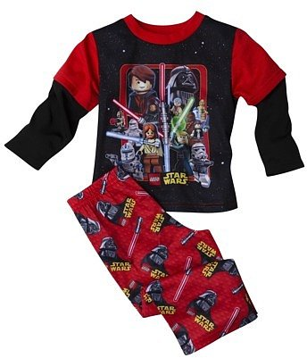 Star Wars Lego Toddler Boys 2-Piece Pajama Set - Red/Black