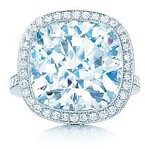 Cushion-cut diamond ring