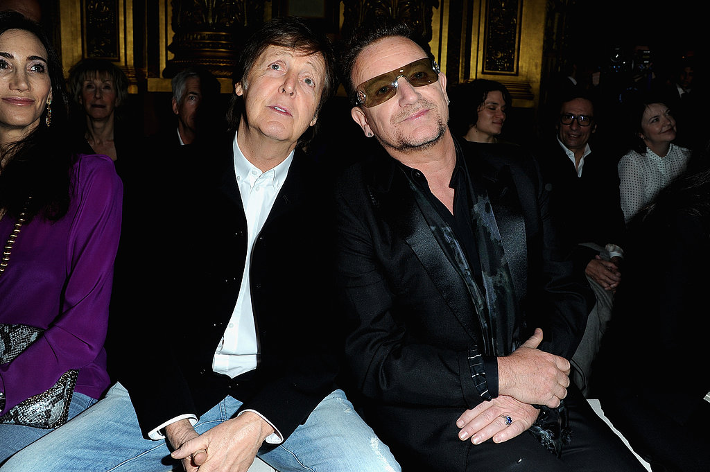 Paul McCartney and Bono at Stella McCartney's show.