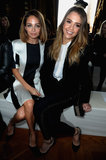 Nicole Richie and Jessica Alba attended Stella McCartney's show.