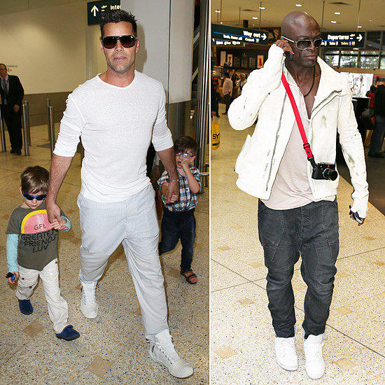 Ricky Martin and Seal Land in Sydney For The Voice Battle Rounds