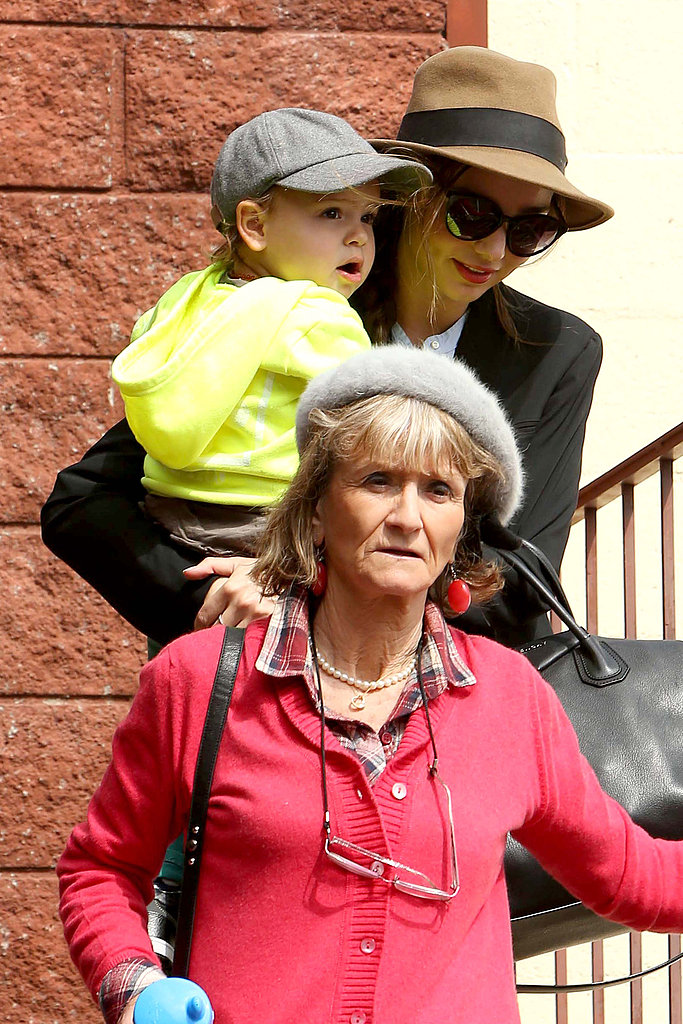 Miranda spent the day with her son Flynn and her mother-in-law Sonia in March 2013.