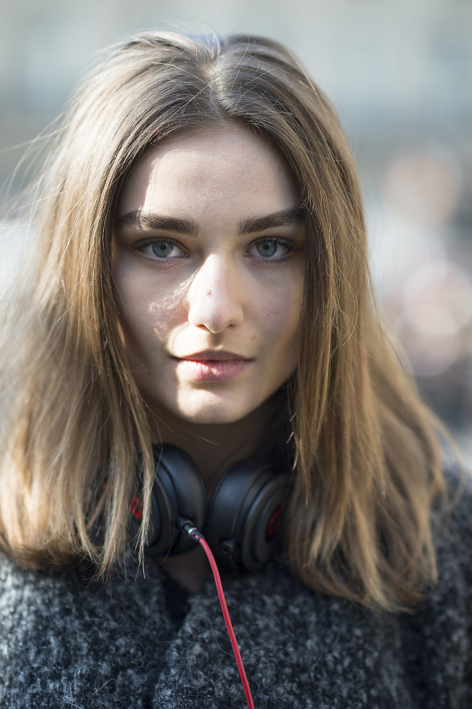 Bold brows and voluminous hair make for a fabulous look on Andrea Diaconu.  Source: Le 21ème | Adam Katz Sinding