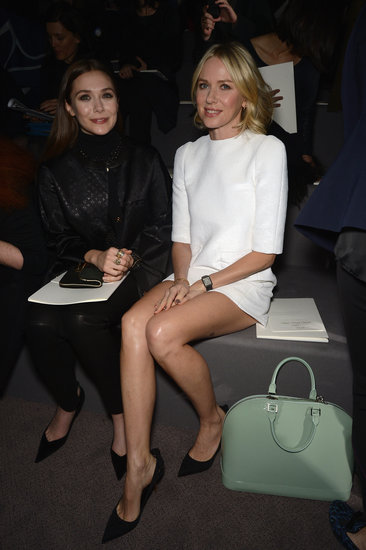 Naomi Watts took a seat next to Elizabeth Olsen at Louis Vuitton on Wednesday in Paris.