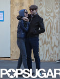 Jason Sudeikis cuddled with Olivia Wilde.
